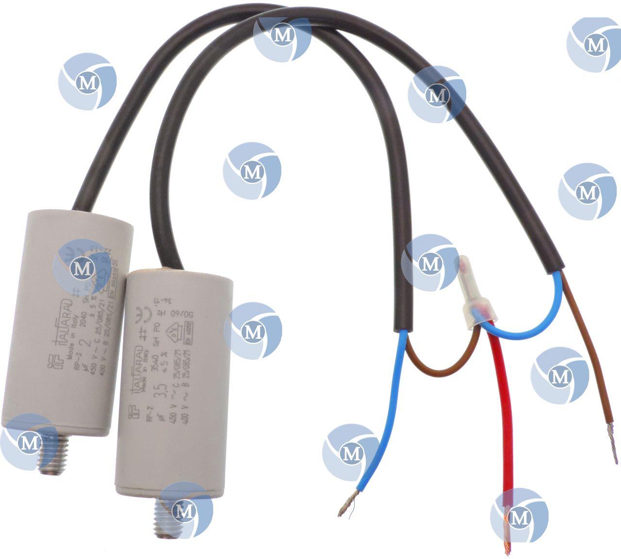 Condensateur de démarrage de 2μF 2uF pour moteur Fagor