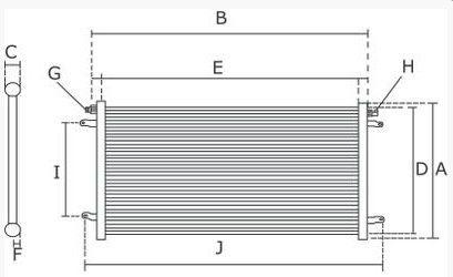 condenseur de clim 6455w7 pour peugeot 206. Black Bedroom Furniture Sets. Home Design Ideas